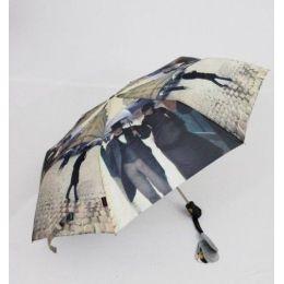 Susino Regenschirm Automatik Taschenschirm Damen Paris im Regen windproof 3563