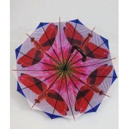 Susino Regenschirm Stockschirm blau Schmetterlinge 04