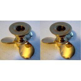 **2er Set- Maritimer Kerzenständer-Schiffsschraube-Propeller- Messing- 10 cm