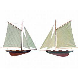 **2er Set- Wandmodell- Yacht, Segelschiff, Schiffsmodell Segelyacht