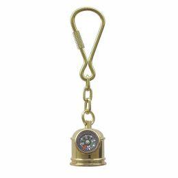 **2X Schlüsselanhänger- Bootskompass - funktioniert- massiv Messing- Schäkelhaken