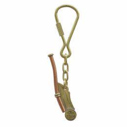 **2X Schlüsselanhänger- Bootsmannspfeife- Messing/Kupfer