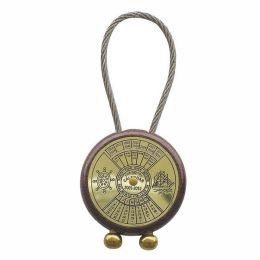 **2X Schlüsselanhänger- Dauerkalender auf Holz -massiv Messing