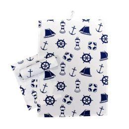 **3 Stück- Maritim- Design- Geschirrtuch - Baumwolle- Übergröße 70 cm