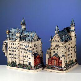 3D-Relief Bierkrug-Neuschwanstein, 1,5 Liter/Neuschwanstein-Castle 3-D -German Beer Stein