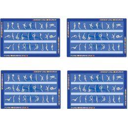 **4X Tischset Platzset Platzdeckchen Unterlage-maritim-Knoten-deutsch-43 cm