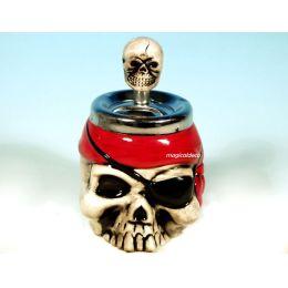 **Aschenbecher- Drehascher- Pirat- Totenkopf - Keramik- originell