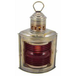 **Backbord- Schiffslampe -Messing brüniert, kein polieren H 23 cm- elektrisch