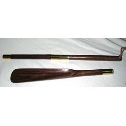 **Edler Schuhanzieher-Löffel aus Holz und Messing 71 cm