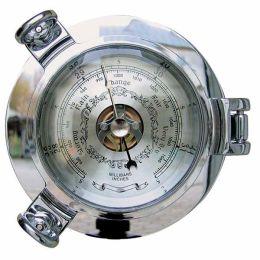 **Edles Barometer in Bullaugenform - verchromt - Durchmesser 14 cm