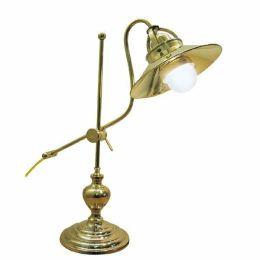 **Elegante Messing lackiert- Tischlampe, Schreibtischlampe, Schiffslampe