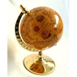 **Exclusiver Globus auf Sockel H 14 cm- Messing- anlaufgeschützt