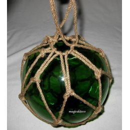 ** Fischerkugel im Netz 10 cm- grün