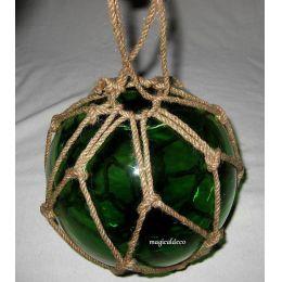 ** Fischerkugel im Netz 7,5 cm- grün