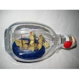 **Flaschenschiff- Buddelschiff- Schiff in Flasche- Santa Maria -L 15 cm