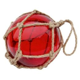 ** GROSSE Fischerkugel im Netz 15 cm- rot