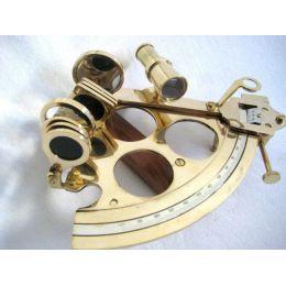 **Großer Sextant mit Microeinstellung aus Messing - Replika- 21 cm
