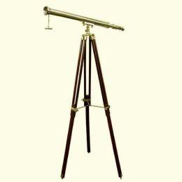 **Großes Teleskop- Messing mit Holzstativ- 130 cm