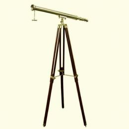 **Großes Teleskop- Messing mit Holzstativ- 160 cm
