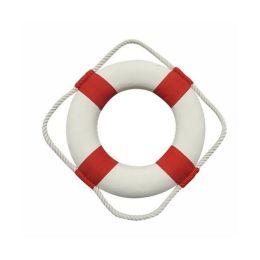 **maritime Deko- Rettungsring- rot/weiß 30 cm