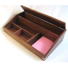 **maritime Utensilien -Box aus Holz mit Messingintarsien- Anker- 750 g