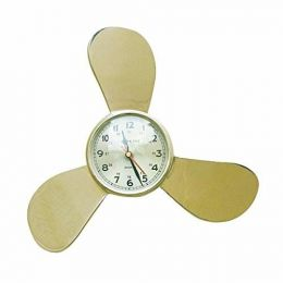 **Maritime Wanduhr- Propeller aus Messing mit Uhr
