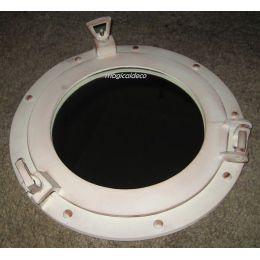 **Maritimer Bullaugenspiegel - Aluminium- Elfenbeinoptik - 50 cm