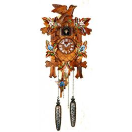 Orig. Schwarzwald- Kuckucksuhr- Edelweiß- Cuckoo Clock- handmade Germany Black Forest