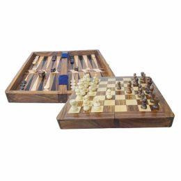 **Schach und Backgammon im Holzkasten