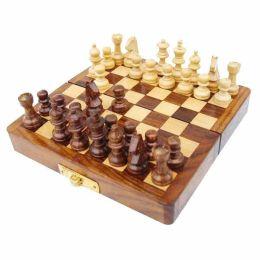 **Schachspiel in Klappbox- Holz- magnetisch