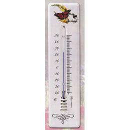 **Schmetterling - Robustes DEKOR-Thermometer 210 mm-Metall-Außen/Innenbereich-deutsche Herstellung