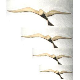 **SEHR EDEL- 4er Set- Möwen 25- 50 cm- Wanddeko mit Aufhängeringen- aus Messing