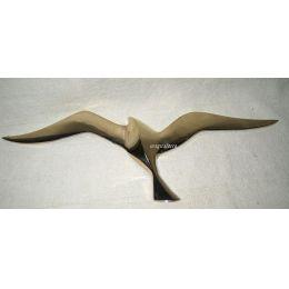 **SEHR EDEL- Möwe- Wandhänger aus Messing - Spannweite 20 cm