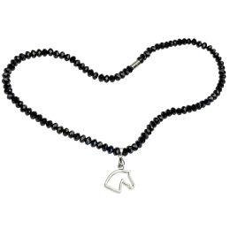 Halskette Pferdekopf mit Glasperlen