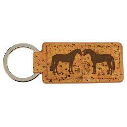 Kork-Schlüsselanhänger Pferd