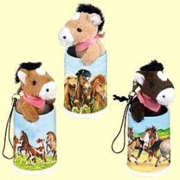 Mini-Anhänger in der Dose Pferdefreunde