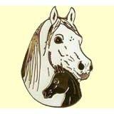 Pferde-Pin Araberstute mit Fohlen