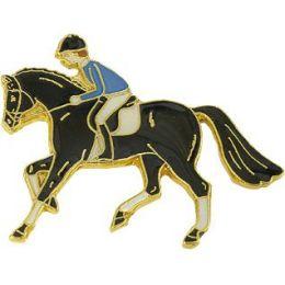 Pferde-Pin Galopp Reiter