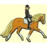 Pferde-Pin Haflinger mit Reiter