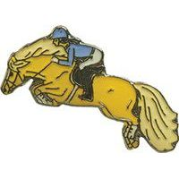 Pferde-Pin Haflinger Springreiter