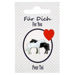 """Pin """"Für dich"""" auf Karte (zwei Pferde)"""