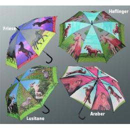 Regenschirm Stockschirm Pferd