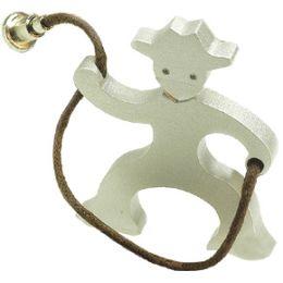 Schlüsselanhänger Cowboy mit Lasso, Aluminium