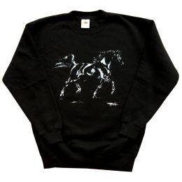 Sweatshirt Arabischer Rapphengst, Gr. 140