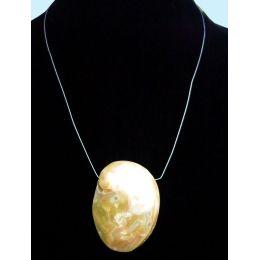 Abalone Collier mit polierter Muschelscheibe