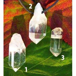 Bergkristall-Spitze, Rohstein gebohrt