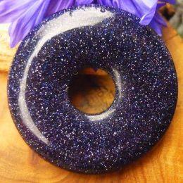 Donut Goldfluss blau-violett (Blaufluss), 30 mm