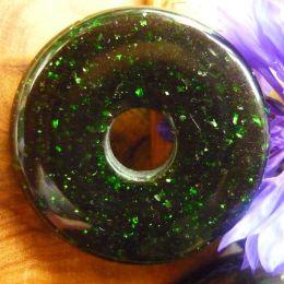 Donut Goldfluss grün, 30 mm