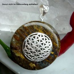 Donuthalter Blume des Lebens, echt Silber