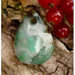 Gemsilica (Chrysocoll-Chalcedon), Freeform gebohrt
